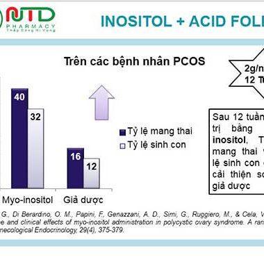 hiệu quả khi điều trị đa nang buồng trứng bằng inositol