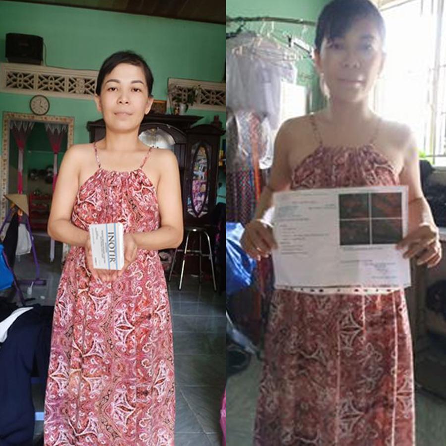 Chị Kim Thi đã có bé sau gần 1 tháng sử dụng Inotir